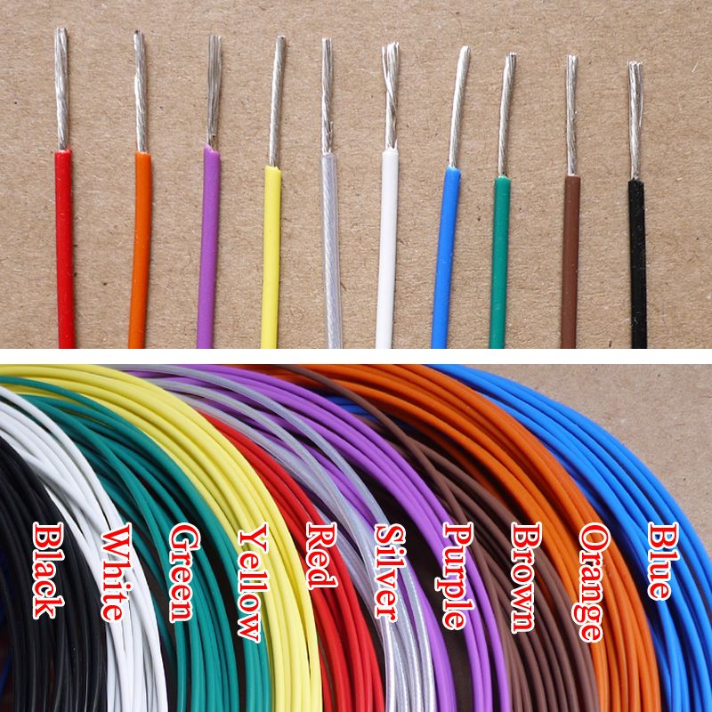 4.2mm 11AWG Silver Plated Teflon F46 FEP Wire Silver Plated Oxyten-Free Copper Cable 37 Strands Color Selectable