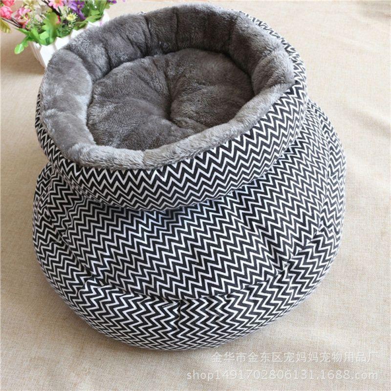 Hot Kitten Puppy Arctic Velvet Thicken Soft Winter Warm Round Pets Mat V-Shaped Pattern Pet House Cat Dog Bed & Sofas