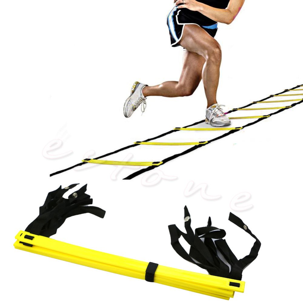 2017  5-Rung Agility Ladder For Soccer Speed Football Fitness Feet Training New Sport