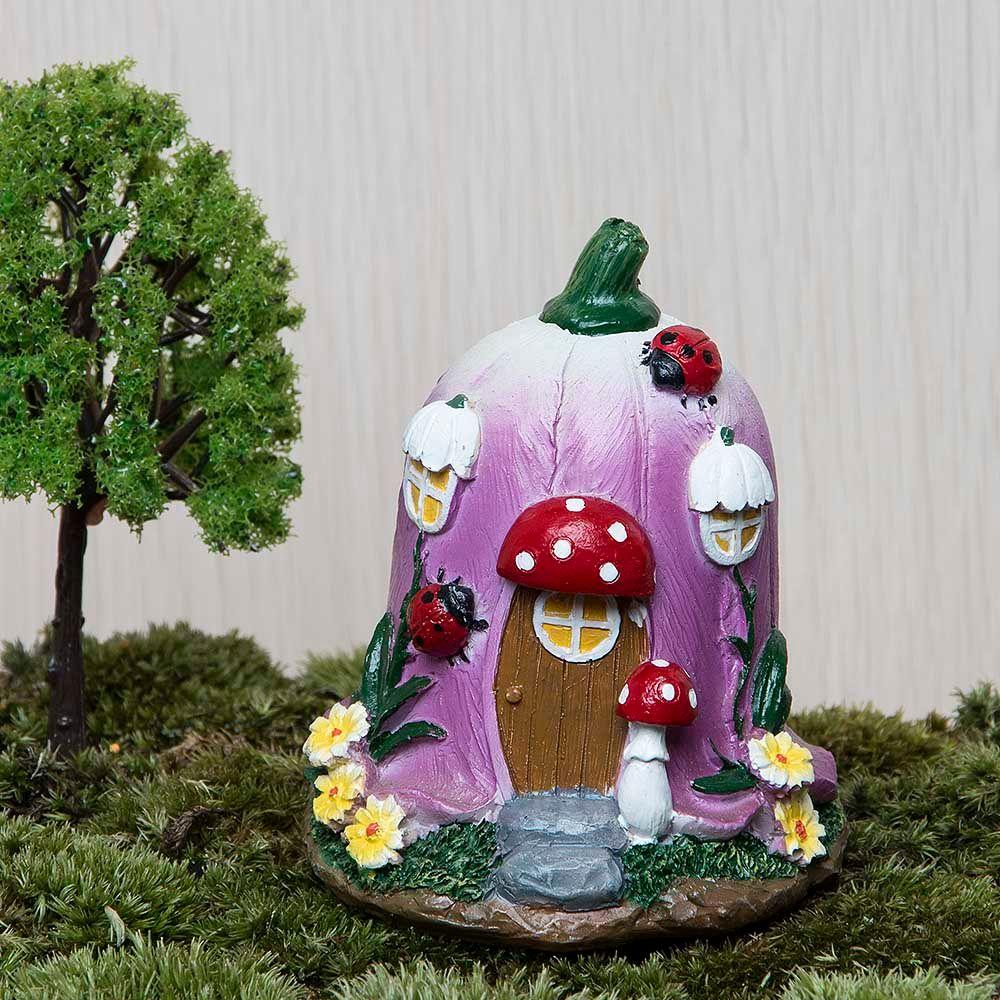 Grand champignon maison fée jardin Gnome mousse Terrarium décor à la maison pour résine artisanat bonsaï jardin maison de poupée Miniatures Figurine