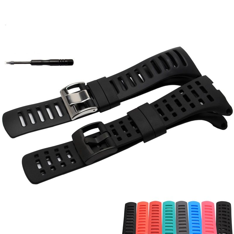 SUUNTO Ambit 1 2 2R 2S Ambit 3 Peak / Ambit 2 35mm Men Watch's Waterproof Rubber Strap Watchband Steel Buckle With Screwdriver
