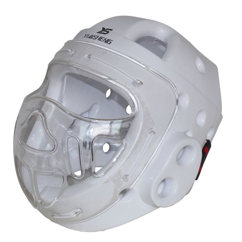 White Color Adult kids karate Helmet fitness taekwondo helmets WTF protector headgear with face mask full protective support