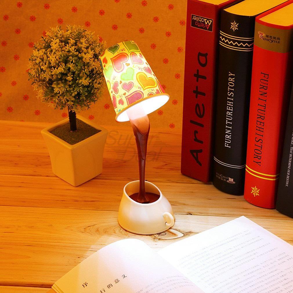 Kreative novelty diy led tischleuchte hause romantischen gießen kaffee usb batterie nachtlicht
