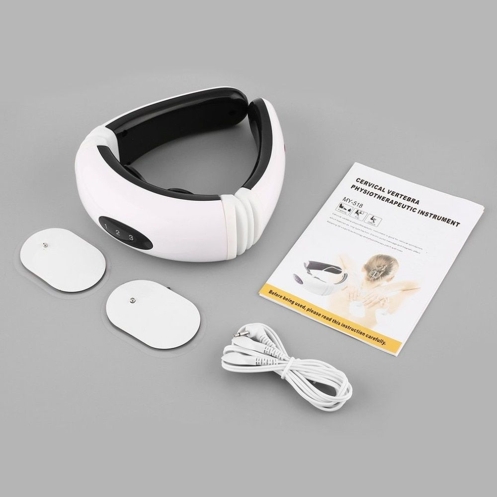 New Magnetic Therapy Neck Massager Cervical Vertebra Physiotherapeutic Protection Spontaneous Heating Belt Body Massager