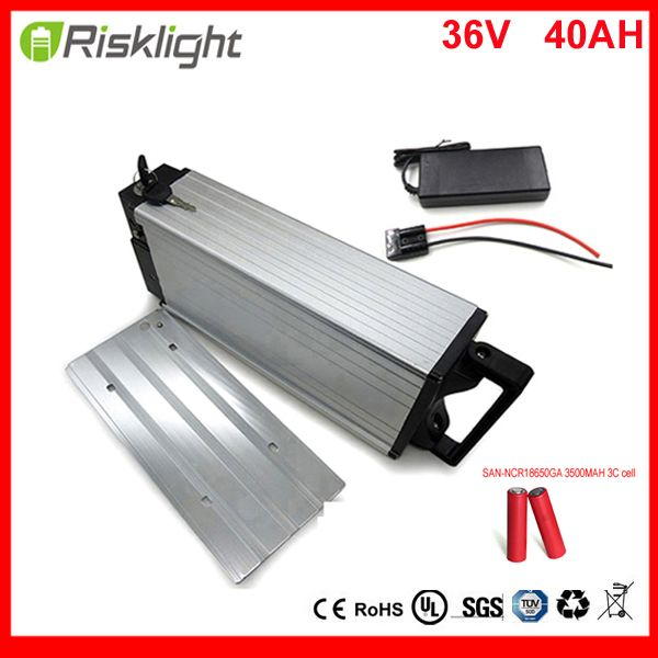 36V 40AH Lithium Battery for bafang 750w 36v 1000w bbs02 mid drive kits rechargeble luggage battery 36v 40Ah For Sanyo Cell