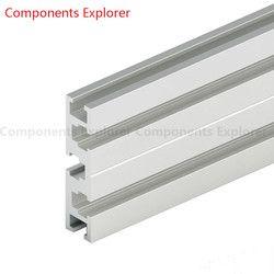 Произвольная резка 1000 мм 1560 г алюминиевый профиль, серебристый цвет.