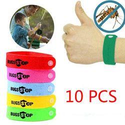 En plein air Non-toxique Mosquito Pest Bracelet De Moustique Répulsif Bracelet Bébé de garde D'enfants (Couleur: Multicolore) 10 pcs