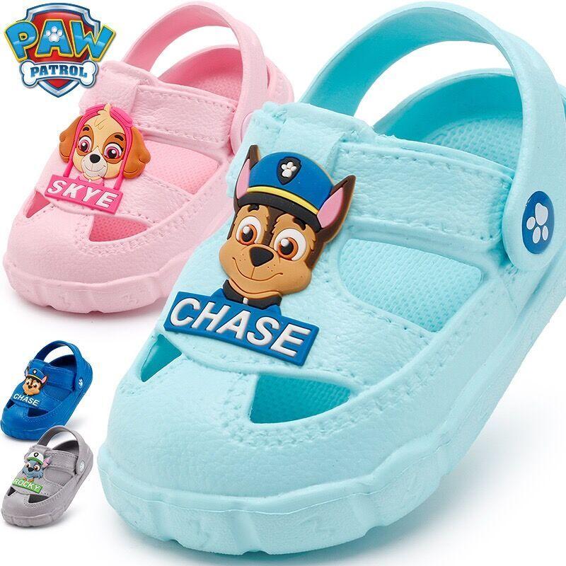 2019 véritable pat' patrouille enfants chaussures bébé pantoufles été dessin animé intérieur anti-dérapant garçons filles cool chase skye pantoufles