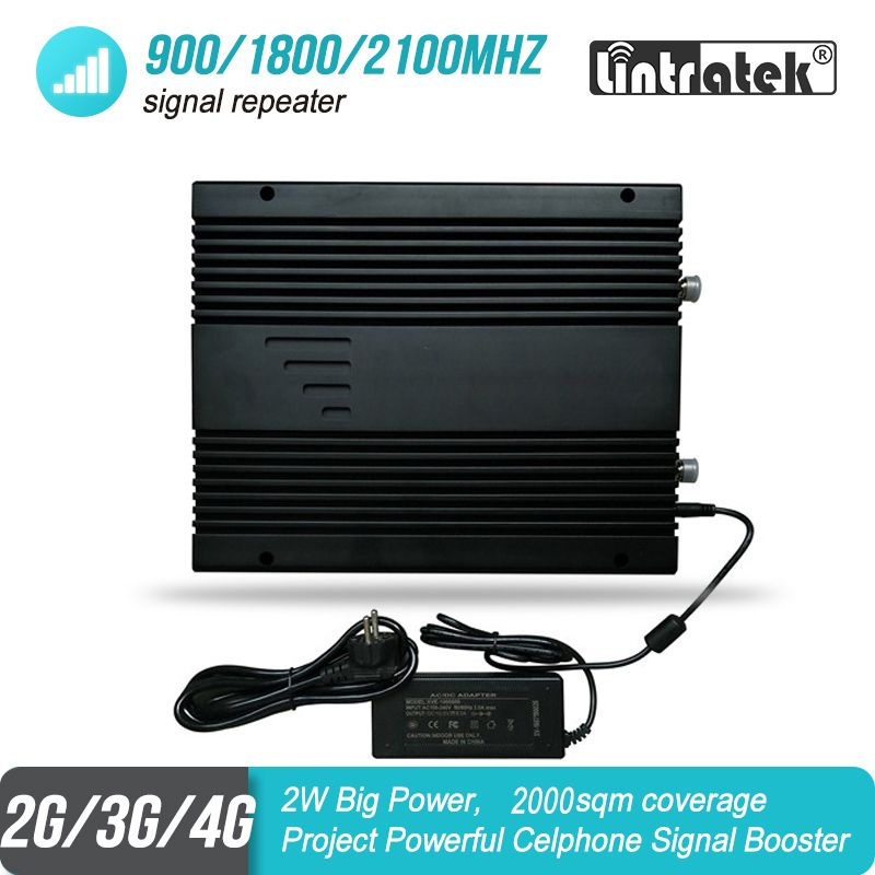 2W Große Power 2G 3G 4G Mobile Signal Booster 900 1800 2100 MHz Triband Projekt GSM UMTS LTE Repeater Verstärker 85dB 2000sqm #46