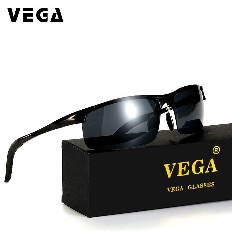 VEGA aluminium magnésium polarisé Sport lunettes de soleil pour Police motard pilote Cool tactique lunettes de tir pour hommes femmes 8177