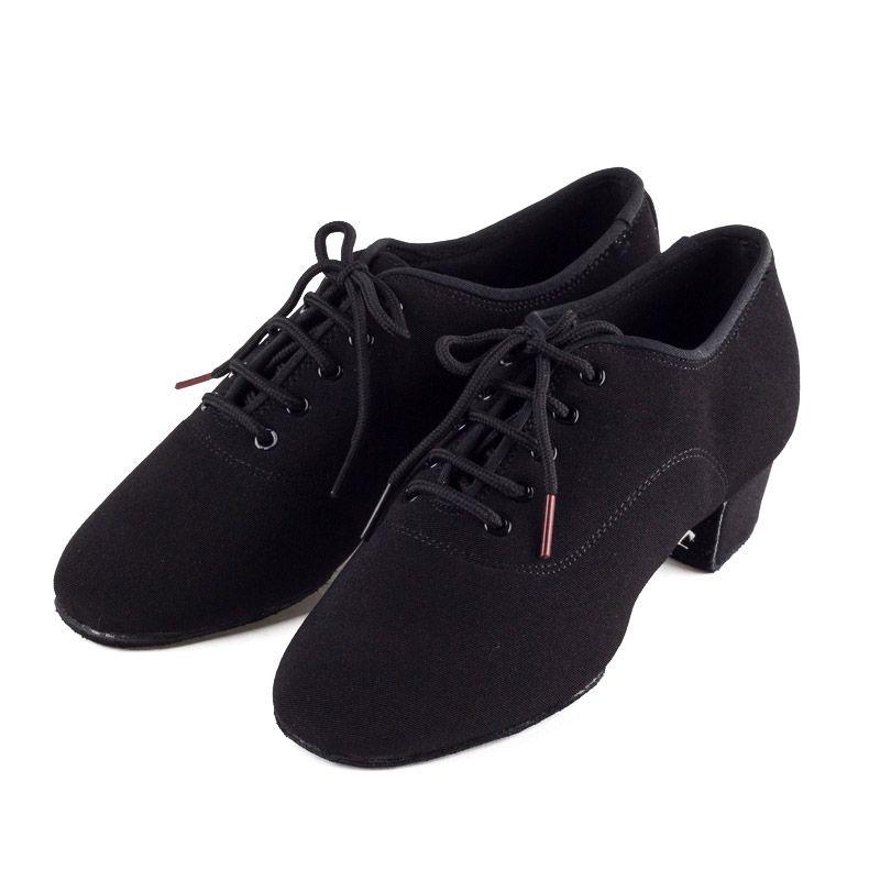 Genuine BD Men shoes Latin Dance Shoes Adult two point Soles Teacher Shoes Soft base Dance shoes male 417 Oxford Cloth Heel 4.5