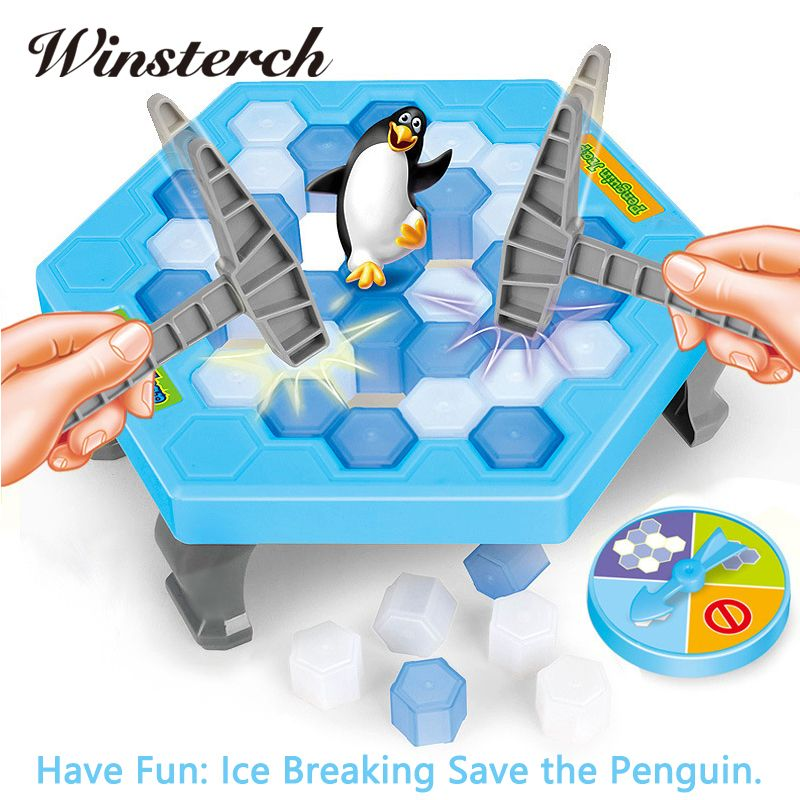 Interactive Ice Breaking Save Penguin Trap Parents Children Kids Fun Game Activate Entertainment Toy Penguin Trap With Box ZG007