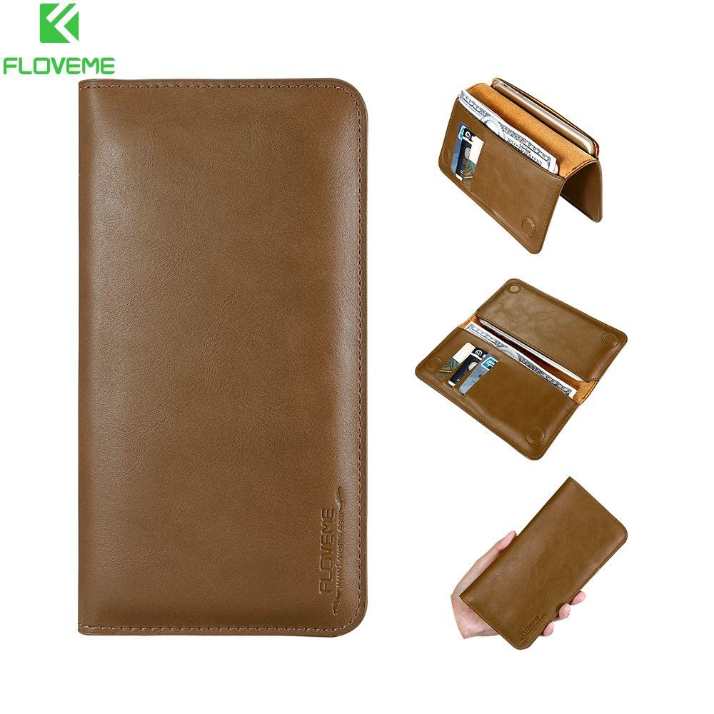 FLOVEME 5.5 ''portefeuille de luxe rétro étui pour iphone X 8 7 6 6 s 5 s étui pour Xiao Redmi Note 4X 5a Mi5 6 sacs portefeuille