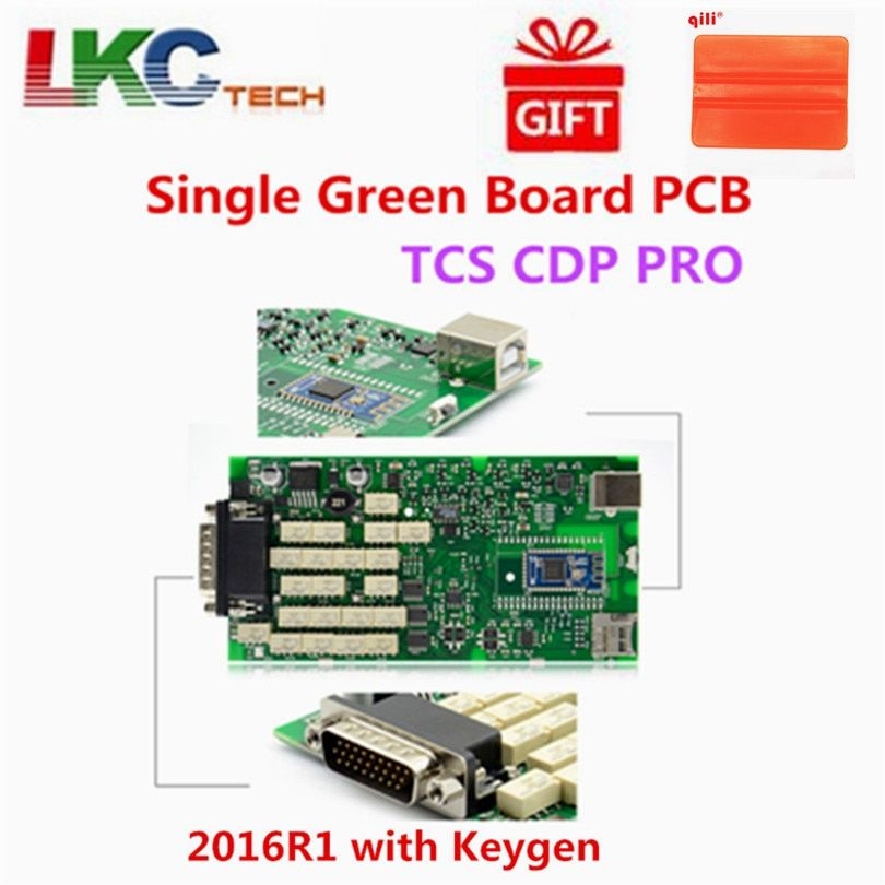 Best Quality Green Single Board PCB new vci With bluetooth 2015.R3/2016.R1 with Keygen TCS CDP PRO ship free