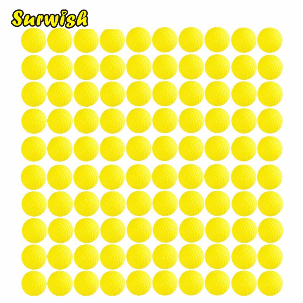 Surwish Pack of 10 Round Dart Refills Foam Bullets for Rival Zeus Apollo for Nerf Toy Gun 100 pcs