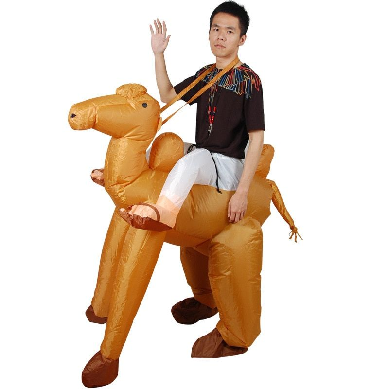 YHSBUY 2018 New Adult Camel Inflatable Costume Kids Party Cosplay Wear Funny Outdoor Blow Up Toys for Youth,HZ029