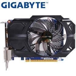 GIGABYTE Carte Graphique D'origine GTX 750 Ti 2 GB 128Bit GDDR5 Vidéo cartes pour nVIDIA Geforce GTX 750Ti Hdmi Dvi Utilisé VGA Cartes