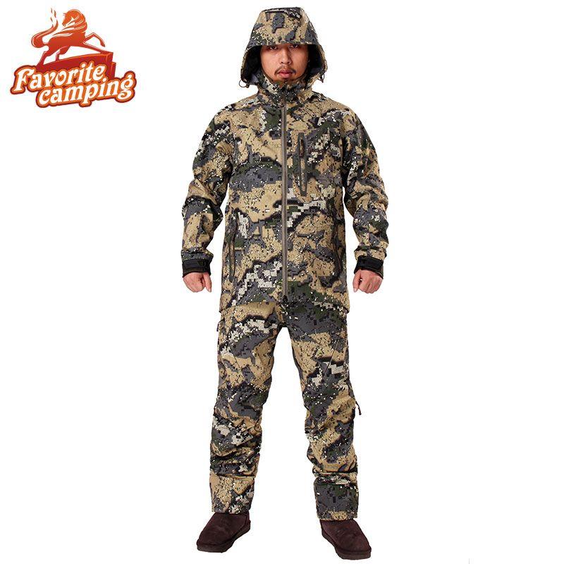 2017 Охота suicamouflage куртка мужская Водонепроницаемый охота одежда ветровка пальто же пункте Ситка