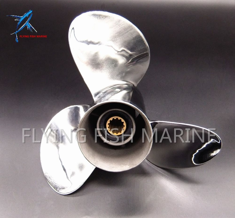 11 1/8 x 14 -F Stainless Steel Propeller 11 1/8x14-G For Yamaha 40HP 50HP Outboard Motor