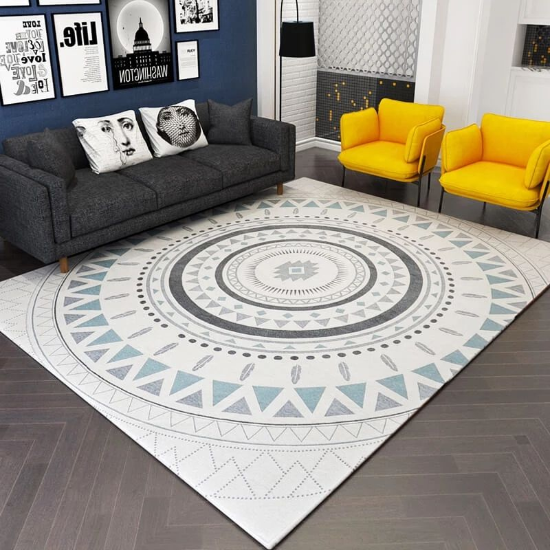 Nordic style geometric bedside carpet ,big size living room coffee table carpet, big size ground mat ,decoration office carpet