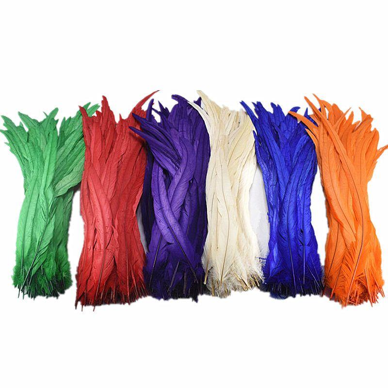 Natürliche gefärbt Rooster tail Federn 50-100-500pcs/lot 35-40 CM DIY Dekoration zubehör Fasan plumes und Feder Für handwerk