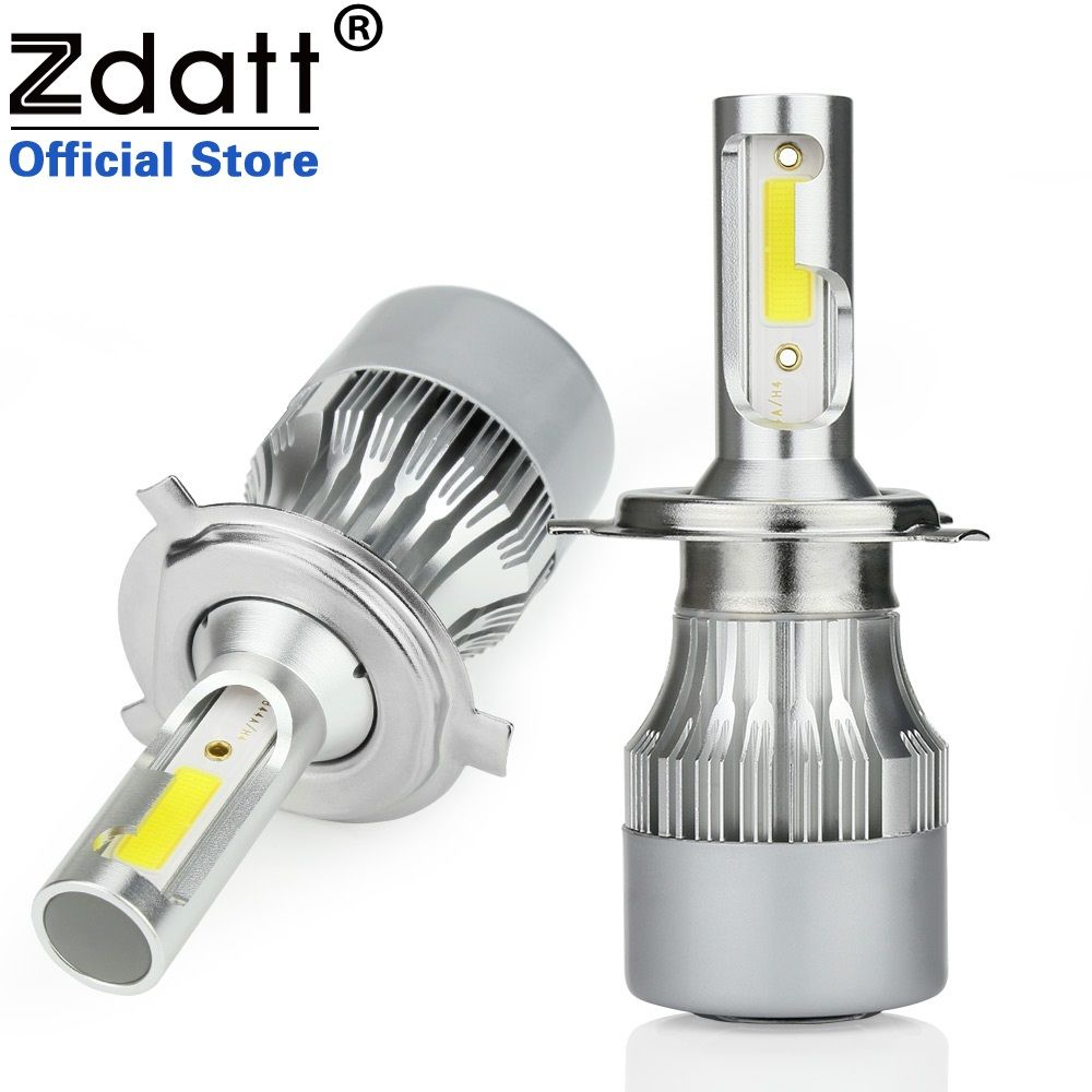 Zdatt H4 Led H7 Bulb H1 H8 H9 H11 HB3 9005 9006 HB4 Auto 80W 8000Lm COB Focus Car Light Led Headlight 12V 24V Lamp Auto 6000K