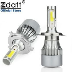 Zdatt H4 Led H7 Bulb H1 H8 H9 H11 HB3 9005 9006 HB4 Auto 80W 8000Lm COB Car Light Led Headlight 12V 24V Lamp Auto 6000K
