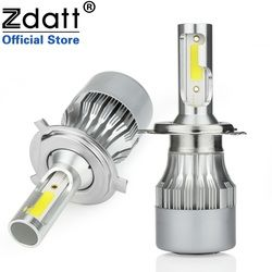 Zdatt H7 LED Car Lights H1 Led Headlight Hulbs H4 H11 HB3 9005 HB4 9006 6000K 80W 12V 24V 8000LM Auto Headlamps Automobiles
