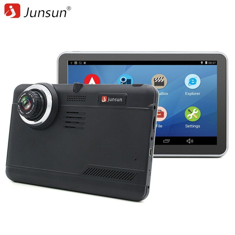 <font><b>Junsun</b></font> Car DVR GPS Navigation 7 inch Android Bluetooth wifi fhd 1080p Camera Recorder Vehicle GPS automobile navigator free maps