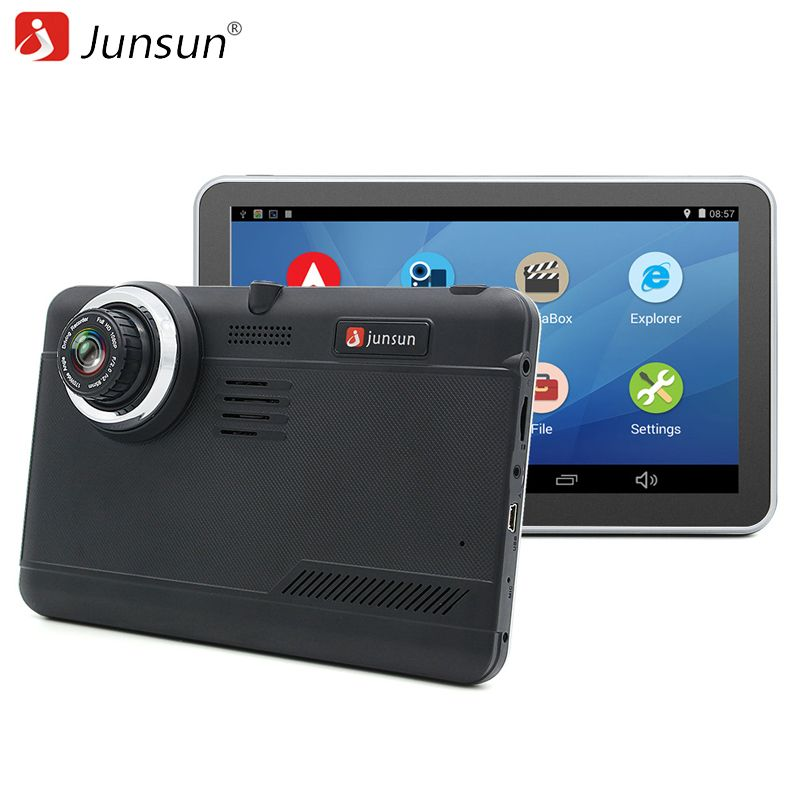 Junsun Car DVR GPS Navigation 7 inch Android Bluetooth wifi fhd 1080p Camera Recorder <font><b>Vehicle</b></font> GPS automobile navigator free maps