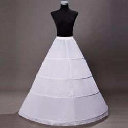 Rok untuk Wedding Dresses Wanita panjang Hoop Underskirt 2018 Putih Crinoline Jupon Sottogonna