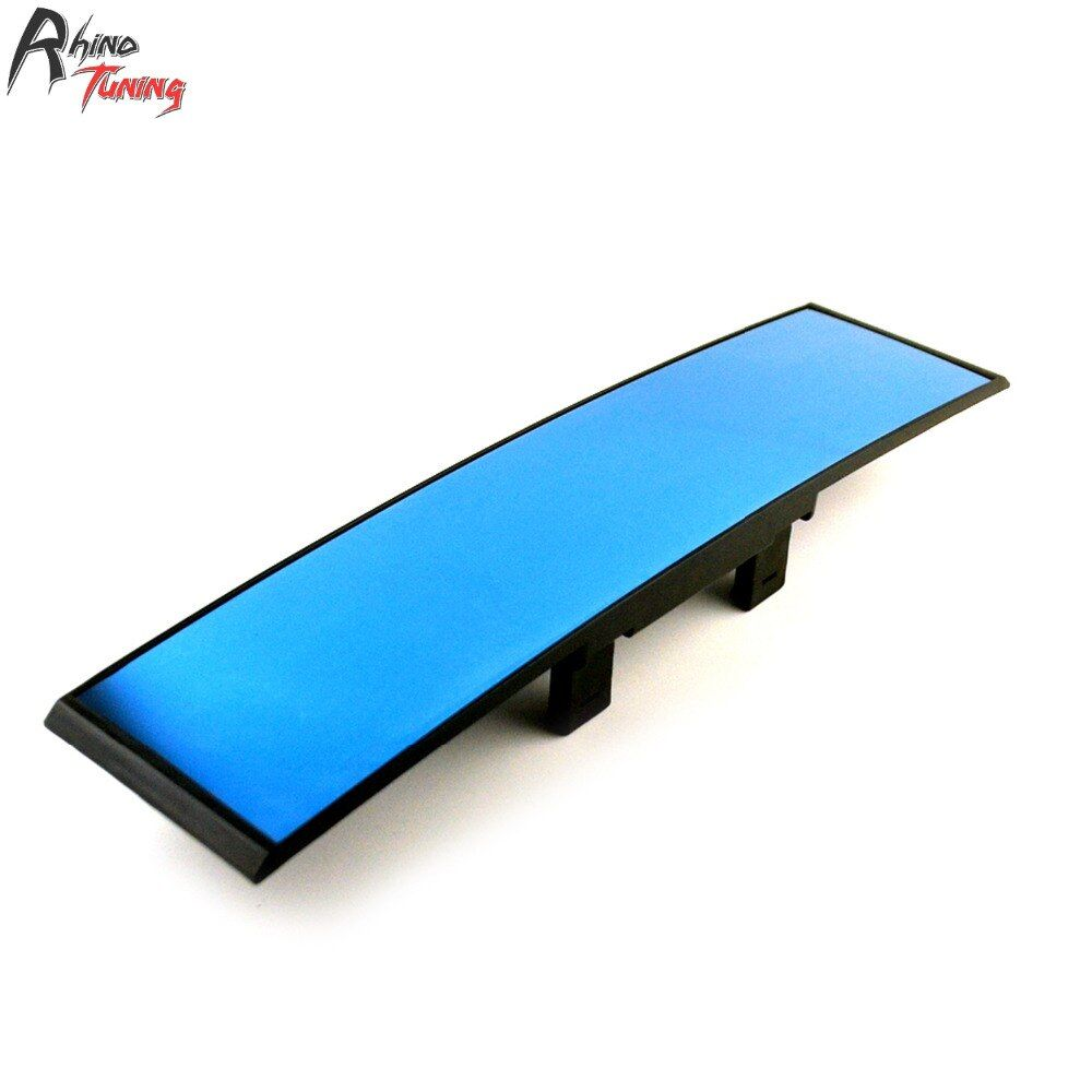 Rhino Tuning Car Rear View Interior Mirror Auto Accessories LCD Display With Digital Clock Curved Covers 18002