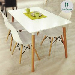 Louis Fashion Dining Chair  Nordic Large-sized Apartment Minimalist Modern Leisure Table White Wood Chairs with Combination