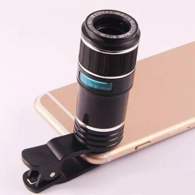 12X Zoom Optical Clip Mobile Phone Telescope Camera Lens For Cellphone Smartphone