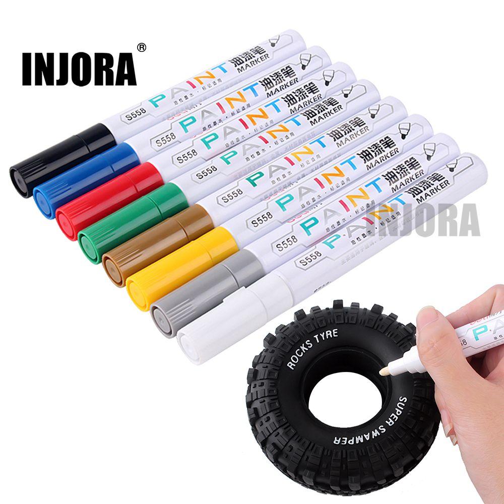 INJORA 2 PCS 8 Farben Optional RC Auto Reifen Farbe Marker Zeichnung Stift Werkzeug für RC Auto Crawler Traxxas TRX4 axial SCX10