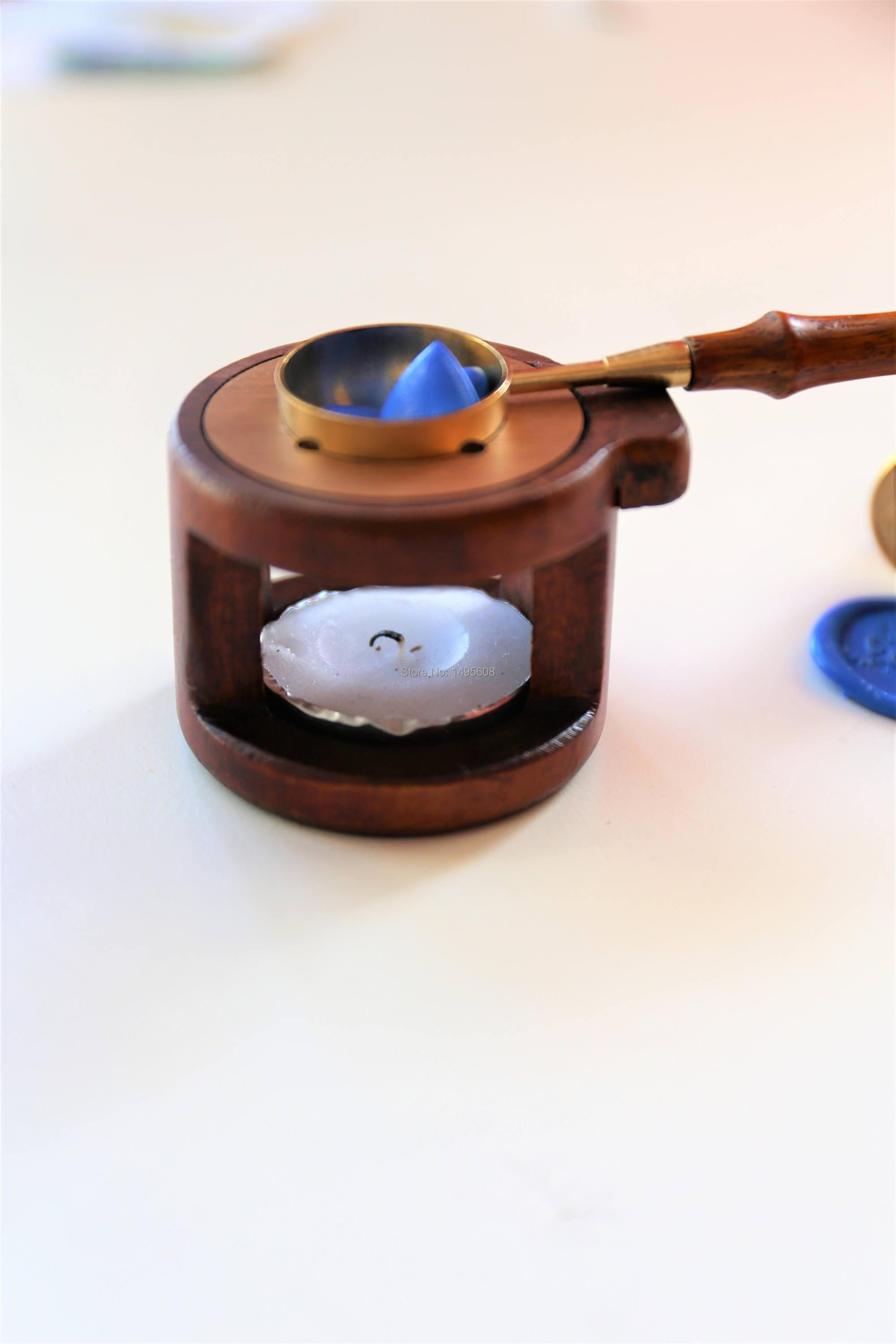 Fire wax seal wax sealing stamps use special tools melting furnace and rosewood copper spoon / metal spoon