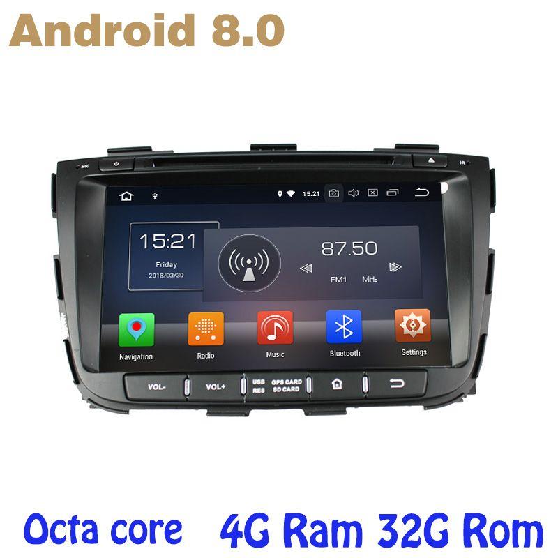 Octa-core PX5 Android 8.0 auto dvd gps für Kia Sorento 2013 2014 mit 4G RAM 32G ROM wifi 4g usb auto Multimedia