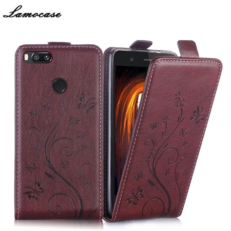 Lamocase Brand Leather Case For Xiaomi Mi 5X Vertical Flip Cover For Xiaomi Mi5x Protective Phone Bags For Xiaomi Mi 5x JRYH