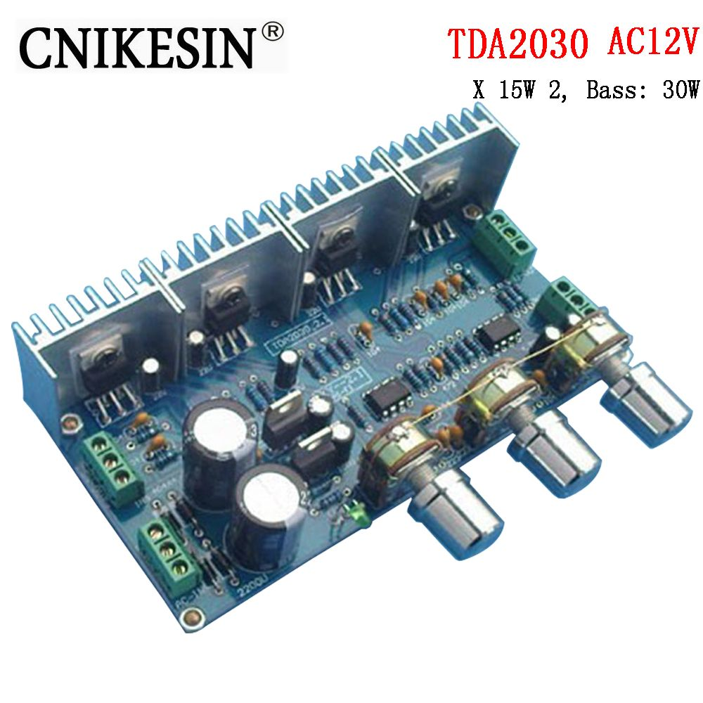 CNIKESIN diy Kkits TDA2030 2.1 <font><b>channel</b></font> amplifier power amplifier board parts kit about sound X 15W 2, Bass: 30W
