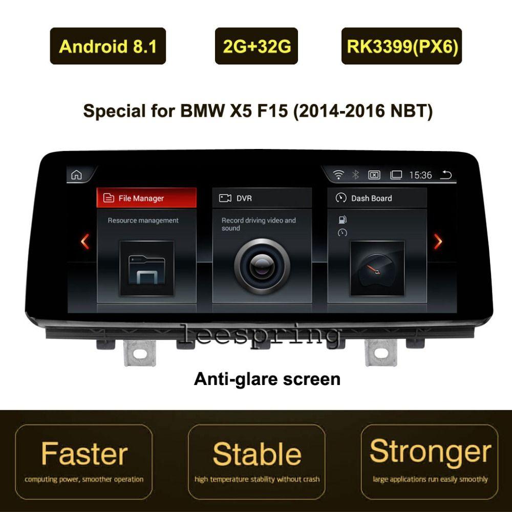 10,25 inch IPS Bildschirm Android 8.1 Auto GPS Navigation für BMW X5 F15 (2014-2016 Original NBT System)