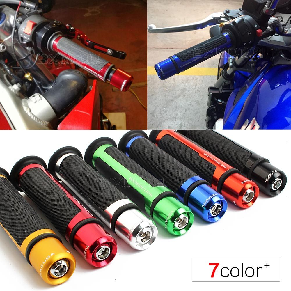 7/8'' Motorcycle Anti-Skid Handle Grips grips&ends cnc 22mm handlebar For Suzuki Gsxr 750 Sv 650 Gsr 600 gsx Honda Yamaha Ducati