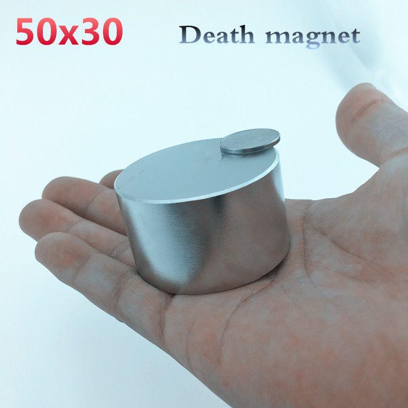 Neodymium magnet 50x30 N52 super strong round magnet rare earth 50*30 mm welding search powerful permanentgallium metal N35 N40