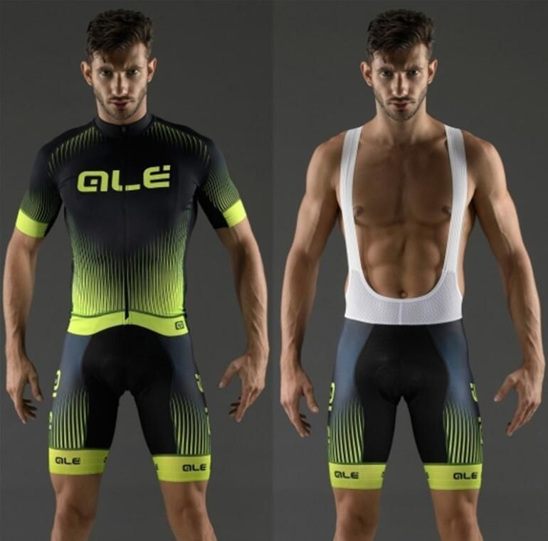 2017 Pro Cycling Jerseys Set Maillot Ropa Ciclismo ALE Jersey Set MTB Mountain Bike Sportswear Racing Bicycle Clothing For Mens