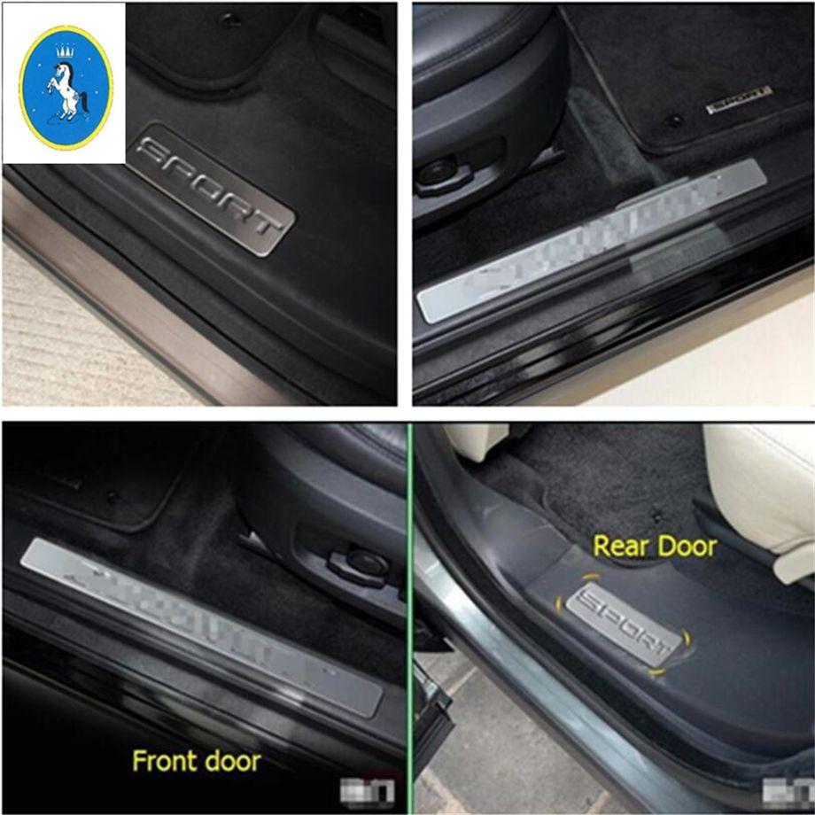 Yimaautotrims Pour Land Rover Discovery Sport 2015 2015 2016 2018 Intérieure De Voiture Porte plaque de protection Seuil de Porte kit de protection Cover Version