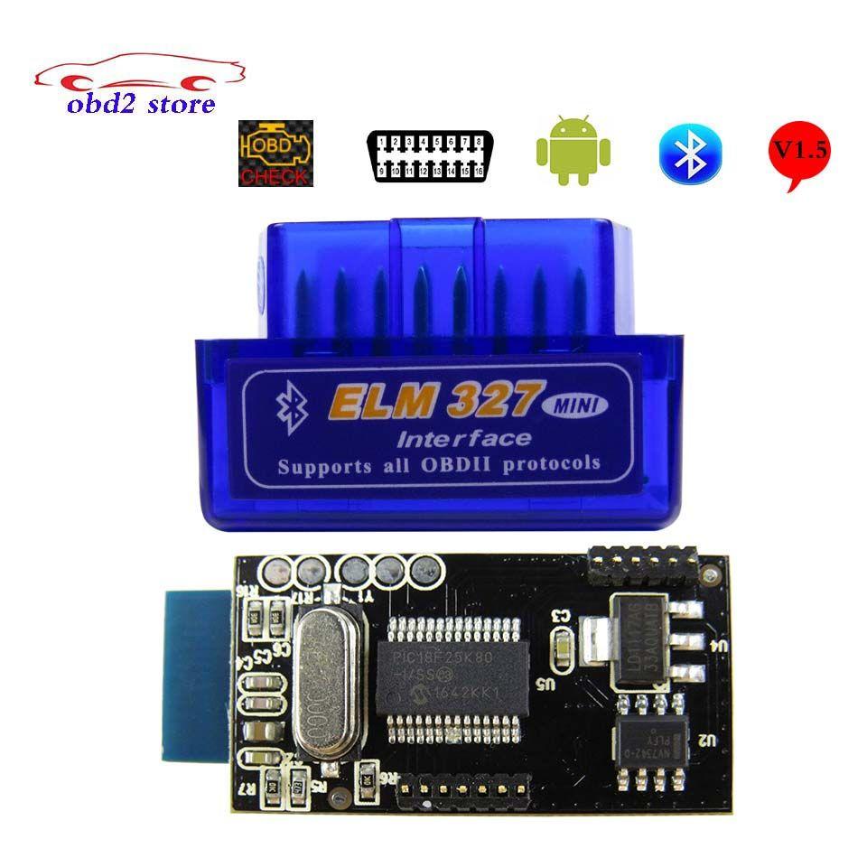 Горячие ELM327 Bluetooth V1.5 OBD2/OBDII Переключатель ELM 327 В 1.5 автомобилей диагностический инструмент код чтения obd 2 сканирования для Android сканер
