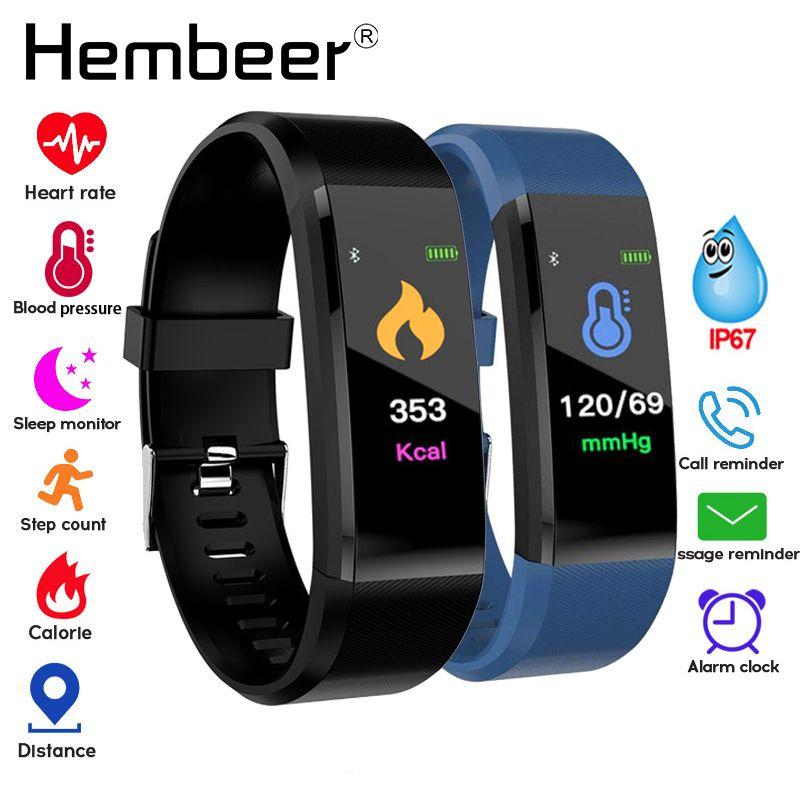 Bracelet de santé mesure de la pression artérielle moniteur de fréquence cardiaque Tracker de Fitness bande intelligente pour iPhone xiaomi pk fitbits mi bande 3