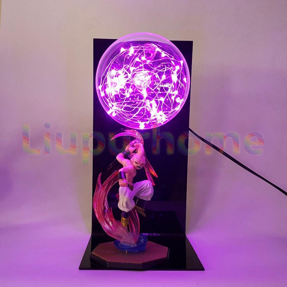 Dragon Ball Z Majin Buu Led Night Light Bulb Table Lamp Anime Dragon Ball Z Buu Led Light Luces Navidad