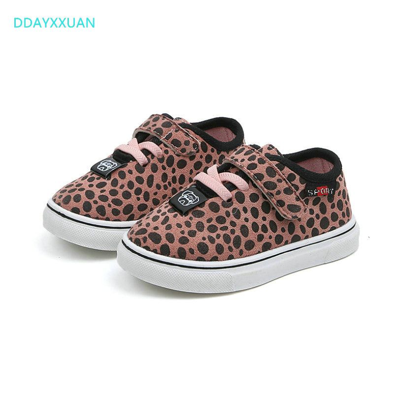 Kids Sport Shoes Leopard New Brand Spring Girls Boys Sports Shoes Antislip Kids Baby Sneaker Stundent Child Casual Sneakers