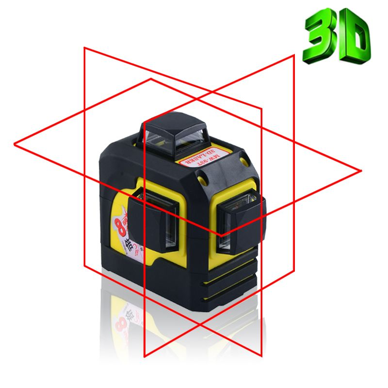 Firecore 12Lines 3D 93T Laser Level Self-Leveling 360 Horizontal And Vertical Cross Super Powerful Red Laser Beam Line