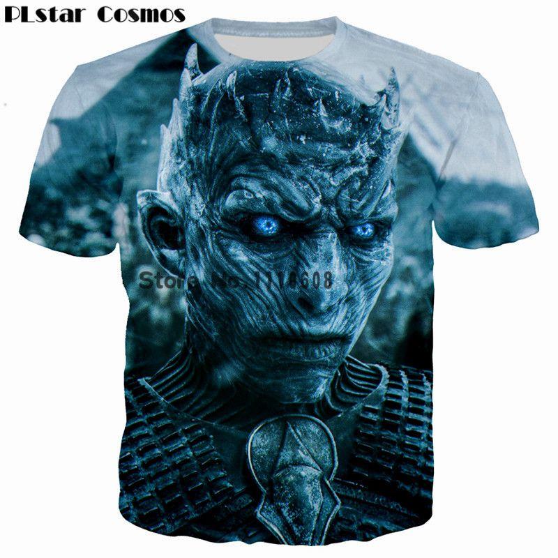 PLstar Cosmos Game of Thrones les marcheurs blancs fantôme impression 3D hommes/femmes T-shirt décontracté hommes T-shirt hauts t-shirts Cool T-shirt